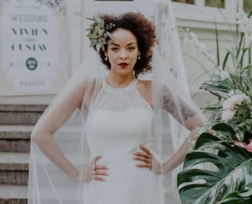Brautraum Brautkleid mit Schleier